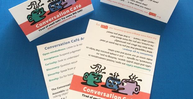 New Conversation Café Wallet Cards